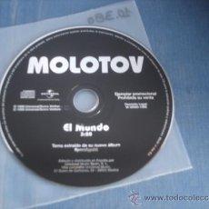 CDs de Música: MOLOTOV EL MUNDO PROMO CD-SINGLE. Lote 36624477