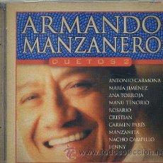 CDs de Música: ARMANDO MANZANERO / DUETOS 2 (CD WEA 2002) VER TEMAS. Lote 36717617