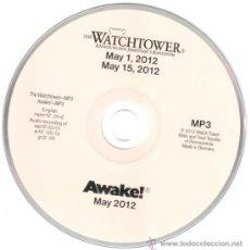 CDs de Música: WATCHTOWER * CD EN MP3* AWAKE! MAYO 2012 * GRABACIONES TESTIGOS JEHOVÁ EN MP3 * DISCO MUY RARO!!. Lote 36777474