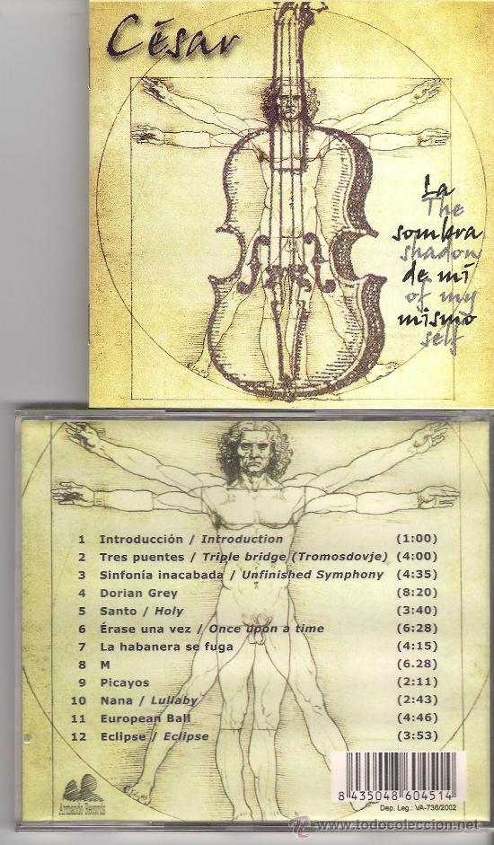 CÉSAR - LA SOMBRA DE MI MISMO ( CD 2002 ) MERTHENS, TANGERINE DREAM, KITARO (Música - CD's New age)