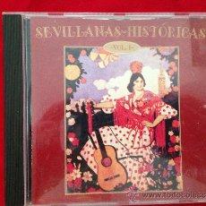 CDs de Música: CD ALBUM SEVILLANAS HISTORICAS VOLUMEN I. Lote 36822201