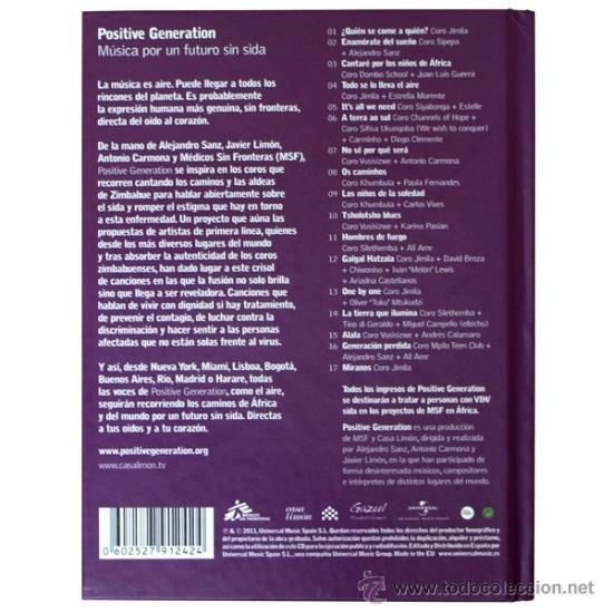 CDs de Música: Positive Generation: Música para un futuro sin SIDA * Disco libro precintado - Foto 6 - 76729443