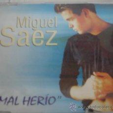 CDs de Música: MIGUEL SAEZ MAL HERÍO PROMO CD-SINGLE. Lote 36981397
