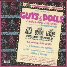 CD de Música: GUYS AND DOLLS.ELLOS Y ELLAS. ROBERT ALDA.VIVIAN BLAINE.MARLON BRANDO.BROADWAY ORIGINAL CAST.. Lote 37061900