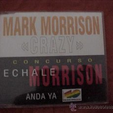CDs de Música: MARK MORRISON. CRAZY. CONCURSO ECHALE MORRISON ANDA YA 40 PRINCIPALES. CD PROMOCIONAL. Lote 37078344