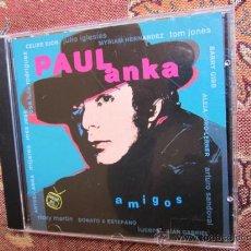 CDs de Música: CD DE PAUL ANKA- TITULO AMIGOS-ALBUM DE DUOS -CON R. MARTIN-CELIN DION. J. IGLESIAS . JUAN GABRIEL-. Lote 37200776