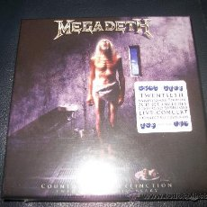 CDs de Música: BOX CD - MEGADETH - COUNTDOWN TO EXTINCTION + LIVE AT THE COW PALACE - LIVE CONCERT + COLLECTIBLE PO. Lote 37289785
