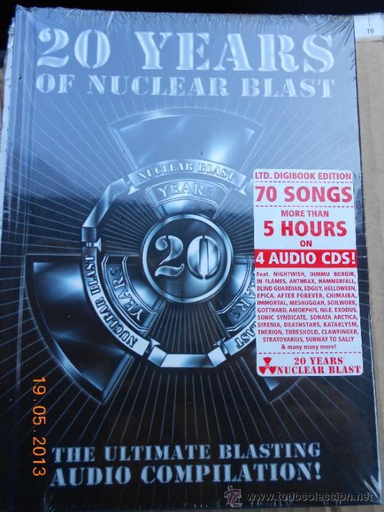 Musica Cd Heavy 20 Years Of Nuclear Blast 4 Cds 70 Temas Libreto Ed Digipack Lujo Me