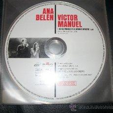 CDs de Música: PROMO CD - ANA BELEN Y VICTOR MANUEL - NO SE POR QUE TE QUIERO - SOLO CD. Lote 37385143