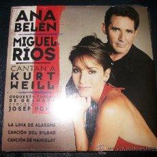 CDs de Música: PROMO CD - ANA BELEN Y MIGUEL RIOS CANTAN A KURT WEILL - 3 TRACKS - PRECINTADO. Lote 37386220