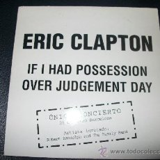 CDs de Música: PROMO CD - ERIC CLAPTON - IF I HAD POSSESSION / OVER JUDGEMENT DAY. Lote 37407369