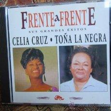 CDs de Música: CD DOBLE FRENTE A FRENTE - DE CELIA CRUZ- TOÑA LA NEGRA SUS GRANDES EXITOS-ORIGINAL DEL 96¡¡ NUEVO¡. Lote 37410029