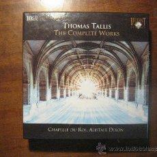 CDs de Música: THOMAS TALLIS - THE COMPLETE WORKS-CHAPELLE DU ROI, ALISTAIR DIXON- 10 CD. Lote 37426254