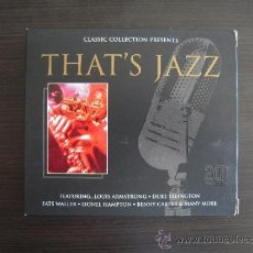 CDs de Música: THAT'S JAZZ - DOBLE CD -. Lote 49051618