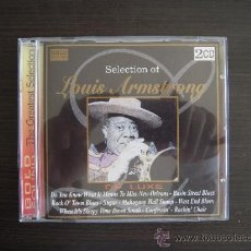 CDs de Música: LOUIS AMSTRONG - SELECTION DE LUXE - DOBLE CD -. Lote 49051626