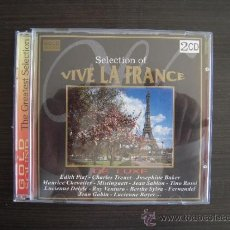 CDs de Música: VIVA LA FRANCE - SELECTION DE LUXE - DOBLE CD -. Lote 49051636