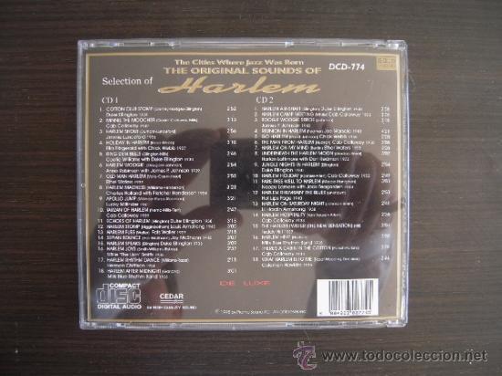 CDs de Música: THE ORIGINAL SOUNDS OF HARLEM - THE BEST JAZZ - DOBLE CD - - Foto 2 - 37508621