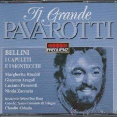 CDs de Música: PAVAROTTI - BELLINI - I CAPULETI E I MONTECCHI (DOBLE CD). Lote 37534814
