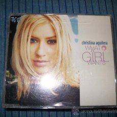 CDs de Música: PROMO CD SINGLE - CHRISTINA AGUILERA - WHAT A GIRL WANTS. Lote 37868497
