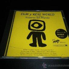 CDs de Música: EGM Y REAL WORLD PRESENTAN MÚSICAS DEL MUNDO. Lote 37873452