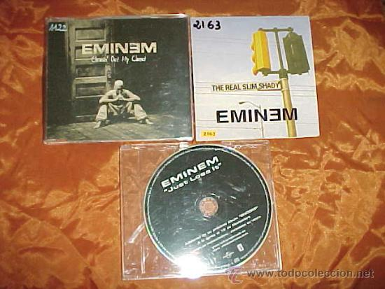EMINEM  3 CD PROMOCIONALES  JUST LOSE IT  CLEANIN' OUT MY CLOSET  THE REAL  SLIM SHADY
