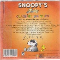 CDs de Música: CD - SNOOPY'S - JAZZ - CLASSIKS ON TOYS - MUSICA DIVERTIDA PER A INFANTS. Lote 38372513