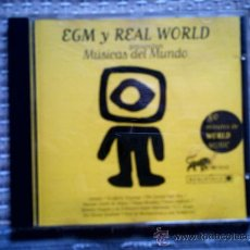 CDs de Música: CD EGM Y REAL WORLD PRESENTAN MUSICAS DEL MUNDO. Lote 38368245