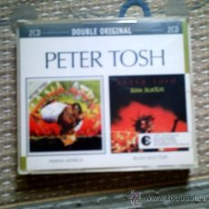 CDs de Música: CD PETER TOSH: MAMA AFRICA Y BUSH DOCTOR (DOBLE CD). Lote 116856335