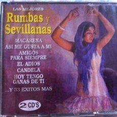 CDs de Música: CD DOBLE-LAS MEJORES RUMBAS Y SEVILLANAS-VARIOS. Lote 38538914