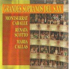CDs de Música: GRANDES SOPRANOS DEL SIGLO XX. Lote 38523982
