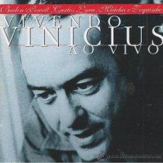 CDs de Música: VINICIUS. VIVENDO. AO VIVO. CD. Lote 38654507