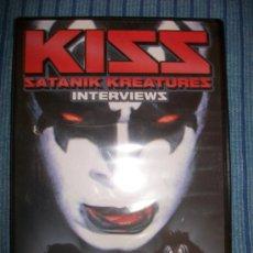 CDs de Música: DVD - KISS - SATANIK KREATURES - INTERVIEWS - PRECINTADO - 59 MIN. Lote 38656859