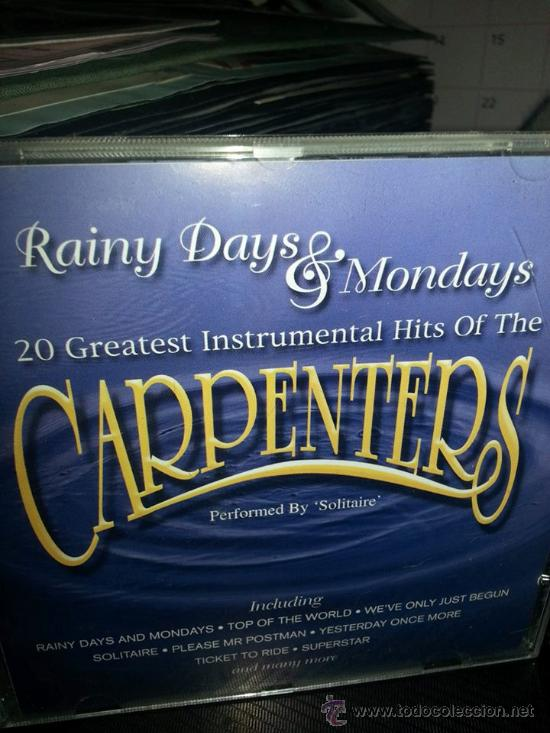 Cds18//20 greatest instrumental hits of the carpenters//solitaire