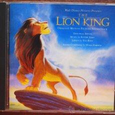CDs de Música: THE LION KING (EL REY LEÓN) (B.S.O. EN SU VERSIÓN ORIGINAL INGLESA). Lote 38735284