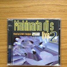 CDs de Música: RECOPILATORIO MAKINARIA DJ´S LIVE 2 MAKINARIA RECORDS 1998. Lote 38768521