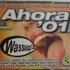 CDs de Música: AHORA '01. EL MEJOR ÁLBUM DANCE. ( 4 X CD ) BLANCO Y NEGRO 2001. CALIDAD LUJO. Lote 48362693