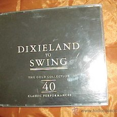 CDs de Música: DIXIELAND TO SWING. THE GOLD COLLECTION 40 CLASSIC PERFORMANCES. CAJA CON 2 CD. IMPECABLE (#). Lote 38938135
