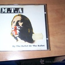 CDs de Música: M.T.A - BY THE BULLET OR THE BALLOT IMPORT TRASH METAL UK 1994 RARO Y DIFICIL. Lote 38971939