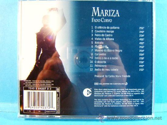 FADO CURVO - MARIZA - PORTUGAL VIRGIN WORLD CONNECTION EMI ANTICOPIA - MADE  IN E U  - 2003 - CD