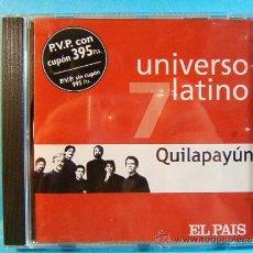 CDs de Música: UNIVERSO LATINO 7 - QUILAPAYUN - EUROTROPICAL MUXXIC EL PAIS - 2001 - CD .... Lote 39024656