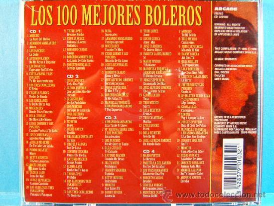 CDs de Música: LOS 100 MEJORES BOLEROS DEL MUNDO - COMPLETO CD 1-2-3-4. - ARCADE - 1996 - CUATRO CD VER .... - Foto 2 - 39026446