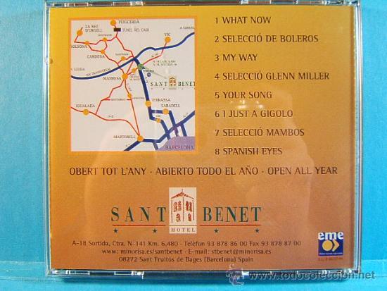 CDs de Música: SANT BENET - HOTEL 4 ESTRELLAS Y RESTAURANTE SANT FRUITOS DE BAGES - MANRESA - EME - 1999 - CD ... - Foto 2 - 39026947