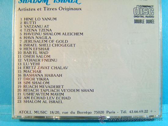 CDs de Música: SHALOM ISRAEL - HAIFA ARTISTES ET TITRES ORIGINAUX -ATOLL PARIS FRANCIA- 23 CANCIONES -1987 - CD ... - Foto 2 - 39027310