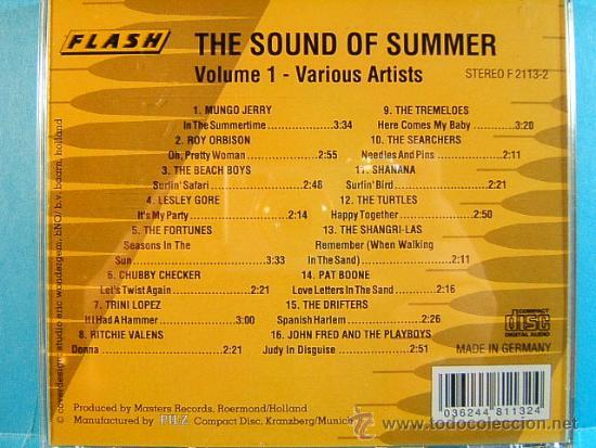 CDs de Música: THE SOUND OF SUMMER - VARIOUS ARTISTS PILZ FLASH - VOL.1 - MADE IN GERMANY - HOLANDA - ???? - CD ... - Foto 2 - 39027338