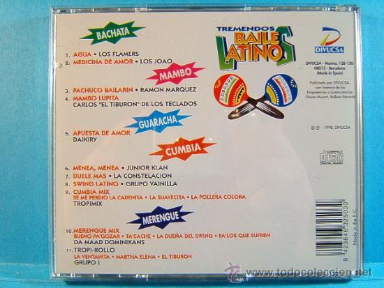 CDs de Música: TREMENDOS BAILES LATINOS-MERENGUE,VALLENATO,SALSA,CUMBIA,MAMBO, BACHATA,GUARACHA,LATINO-1998-3 CD... - Foto 6 - 39027602