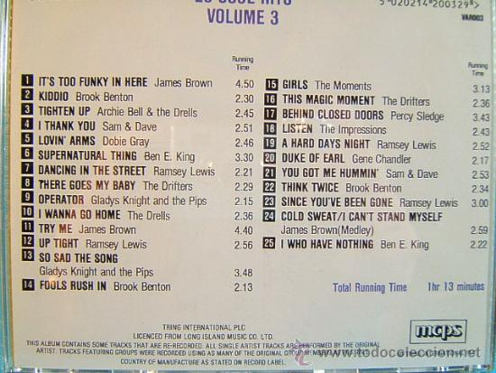 CDs de Música: 25 100 SOUL HITS - COMPLETO VOL. 1-2-3-4. - TRING LONG ISLAND MCPS IN THE EEC - ???? - CUATRO CD ... - Foto 4 - 39028771