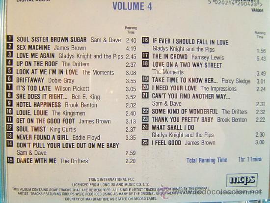 CDs de Música: 25 100 SOUL HITS - COMPLETO VOL. 1-2-3-4. - TRING LONG ISLAND MCPS IN THE EEC - ???? - CUATRO CD ... - Foto 5 - 39028771