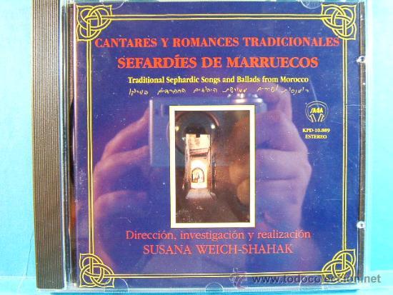 CANTARES Y ROMANCES TRADICIONALES SEFARDIES DE MARRUECOS - SEPHARDIC SONGS MOROCCO -1991 - CD... (Música - CD's Otros Estilos)