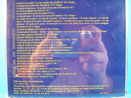 CDs de Música: CANTARES Y ROMANCES TRADICIONALES SEFARDIES DE MARRUECOS - SEPHARDIC SONGS MOROCCO -1991 - CD... - Foto 2 - 39030138