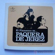 CDs de Música: CD EL FLAMENCO ES PAQUERA DE JEREZ. Lote 39032344